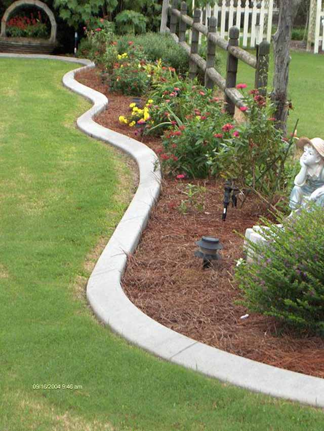 Concrete Curbs Lawn Edging Garden Edging Image Gallery